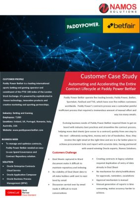 Customer Case Study - Paddy Power Betfair