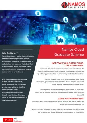 Namos Solutions Cloud Graduate Scheme