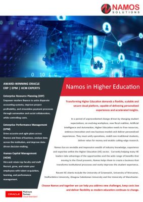 Namos in Higher Education