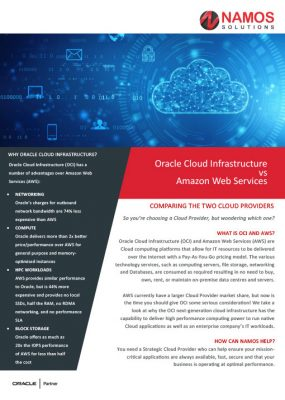 Oracle Cloud Infrastructure vs Amazon Web Services