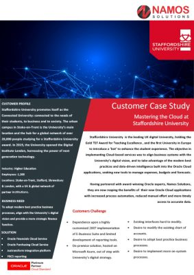 Staffordshire University Case Study